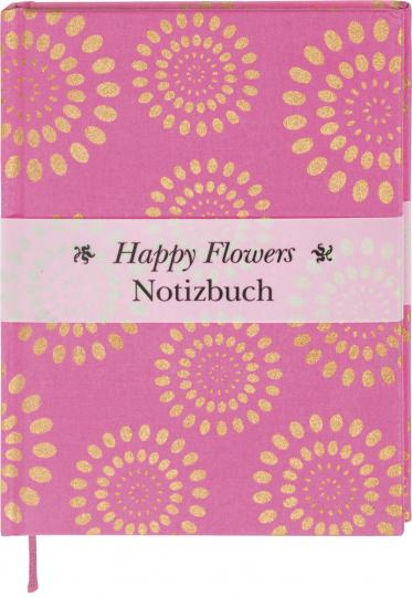 Happy Flowers Notizbuch. Pink.