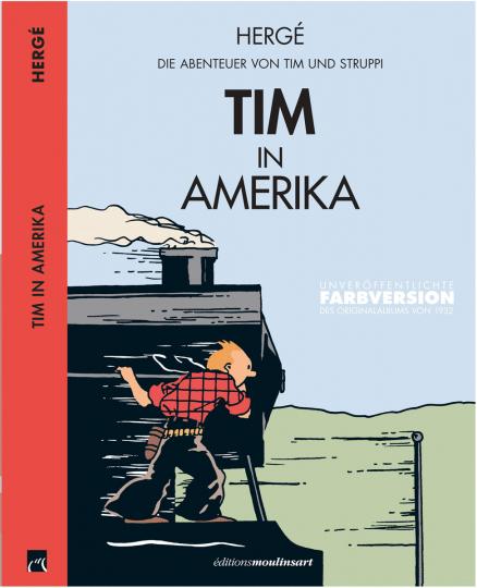 Hergé. Tim in Amerika. Farbversion. Comic.