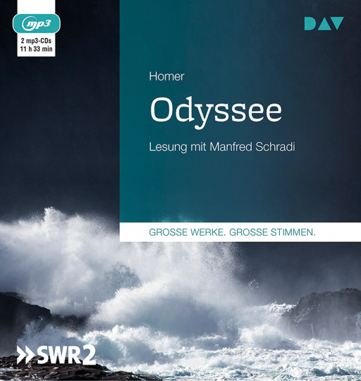 Homer. Odyssee. 2 mp3-CDs.