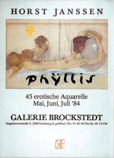 Horst Janssen. Plakat Phyllis