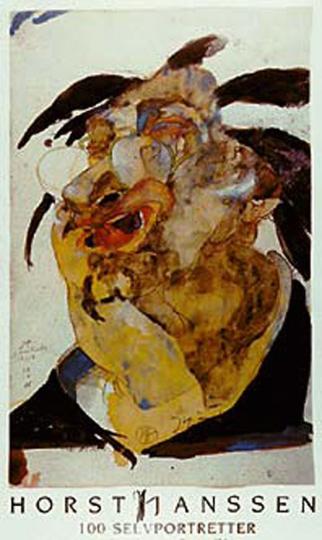 Horst Janssen. Plakat »Selfportretter«