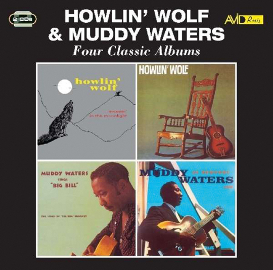 Howlin Wolf & Muddy Waters. Four Classic Albums. 2 CDs.