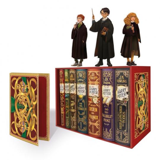 J.K. Rowling. Harry Potter. Band 1-7. Mit 3 Figuren.
