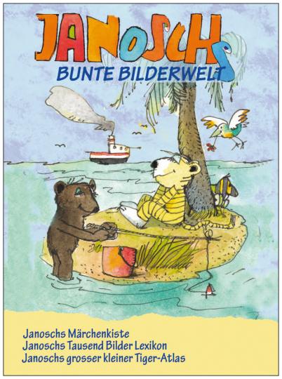 Janoschs bunte Bilderwelt. Märchenkiste, Bilderlexikon und Tiger-Atlas in einem Band.