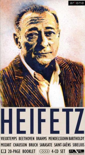 Jascha Heifetz. Set im Buchformat. 4 CDs.