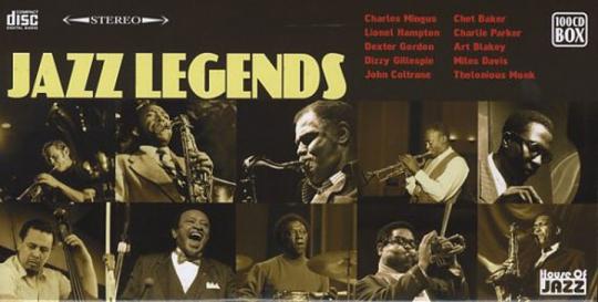Jazz Legends. Verschiedene Interpreten. 100 CDs.