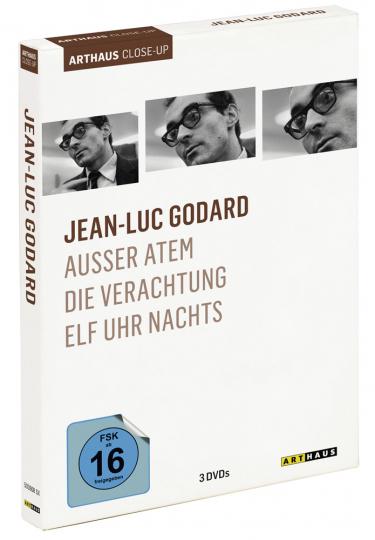 Jean-Luc Godard. Außer Atem, Die Verachtung, Elf Uhr nachts. 3 DVDs.
