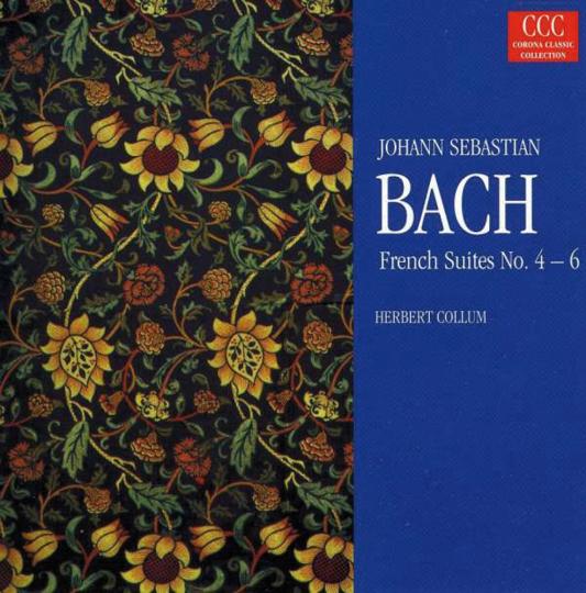 Johann Sebastian Bach. Französische Suiten 4 bis 6. CD.