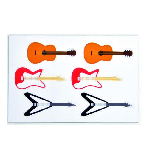 Kikkerland Gitarren Vinylmagnete.