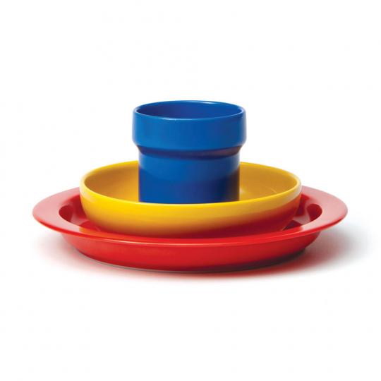 Kindergeschirr »Bauhausfarben«, 3-tlg.