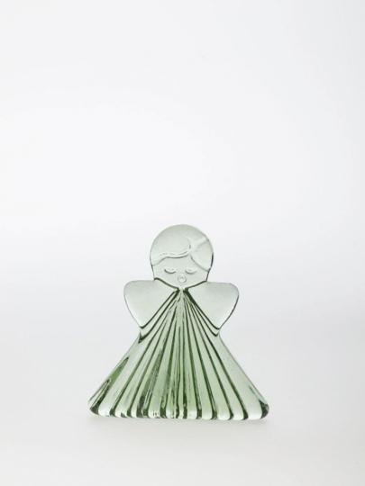 Kleiner Engel aus Waldglas.