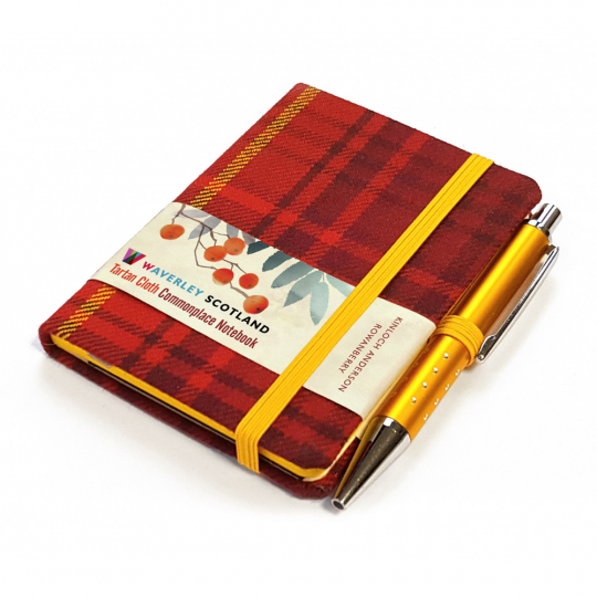Kleines Notizbuch Tartan »Rowanberry«.