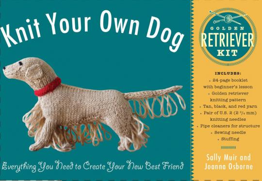 Knit Your Own Dog. Stricke deinen eigenen Hund. Golden Retriever.