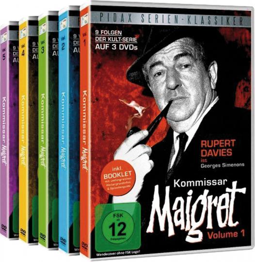 Kommissar Maigret (Komplett). 15 DVDs.