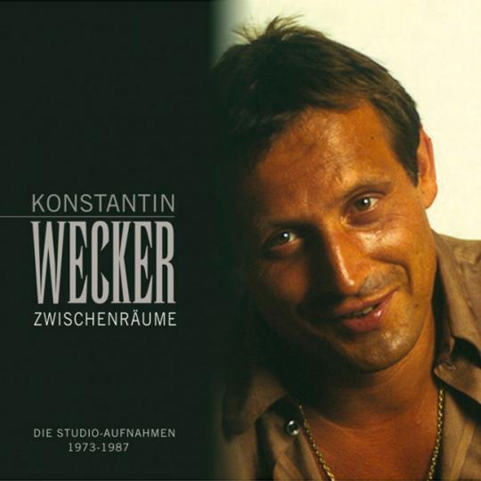Konstantin Wecker. Zwischenräume. Die Studioaufnahmen 1973 - 1987. 7 CDs + DVD.