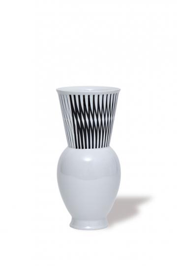KPM Vase »Halle 1«. Rasch Dekor. Bauhaus.