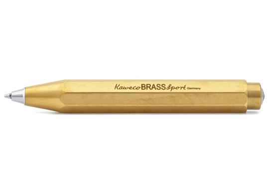 Kugelschreiber »Brass Sport«, Messing.
