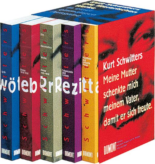 Kurt Schwitters. Das literarische Werk. 5 Bände.