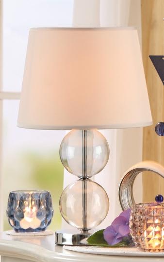 Lampe Doppelkugel.