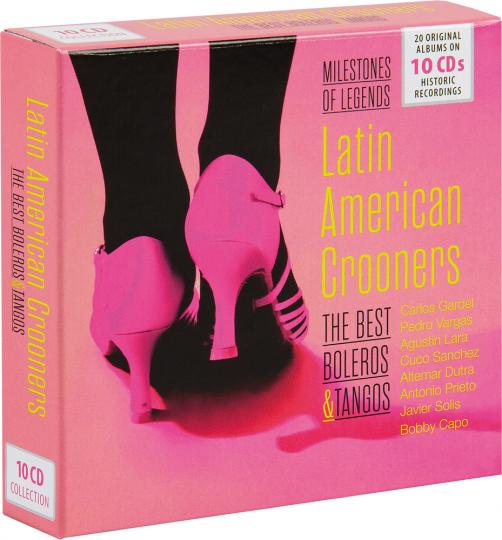 Latin American Crooners. Milestones Of Legends. 10 CDs.