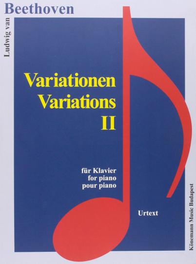 Ludwig van Beethoven. Variationen II. Noten für Klavier.