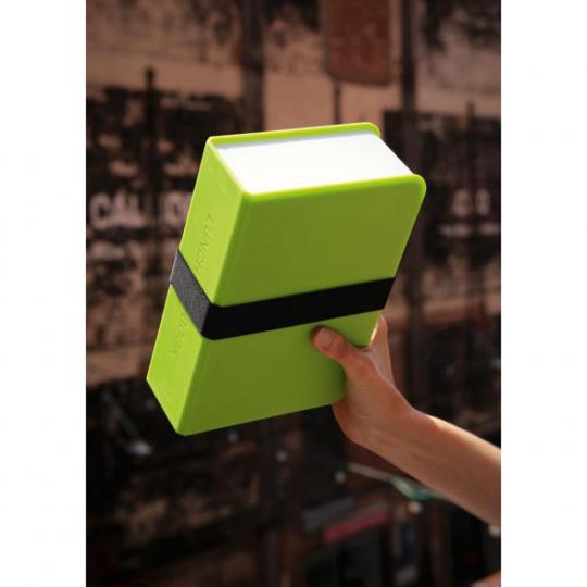 Lunchbox »Buch«, neongrün.