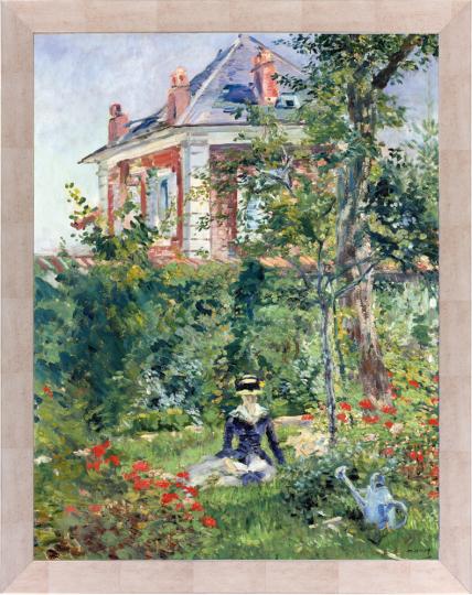 Marguerite im Garten von Bellevue. Edouard Manet (1832-1883).