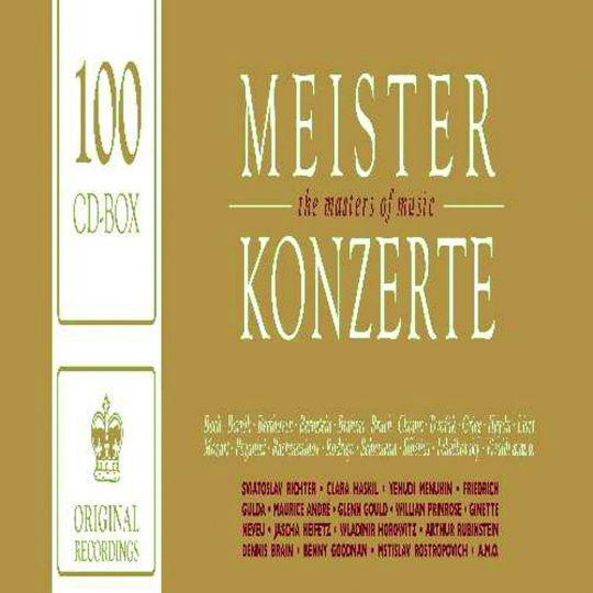 Meisterkonzerte. Original-Recordings. 100 CDs.