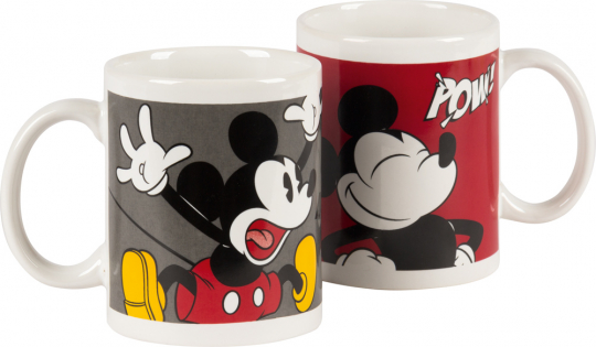 Mickey Mouse Kaffeebecher. 2 Motivtassen im Set.