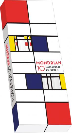 Mondrian. 10 Buntstifte.