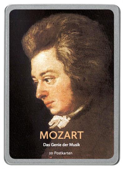 Mozart. Das Genie der Musik. 20 Postkarten.