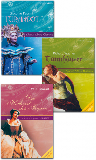Mozart, Puccini, Wagner. Drei große Opern im DVD-Set.