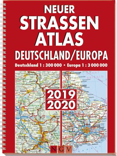 Neuer Straßenatlas Deutschland-Europa 2019/2020.