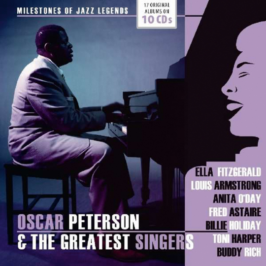 Oscar Peterson & The Greatest Singers. Milestones Of A Jazz Legend. 10 CDs.