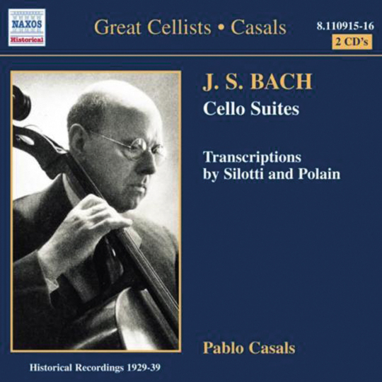 Pablo Casals spielt Bach. Great Cellists. 2 CDs.