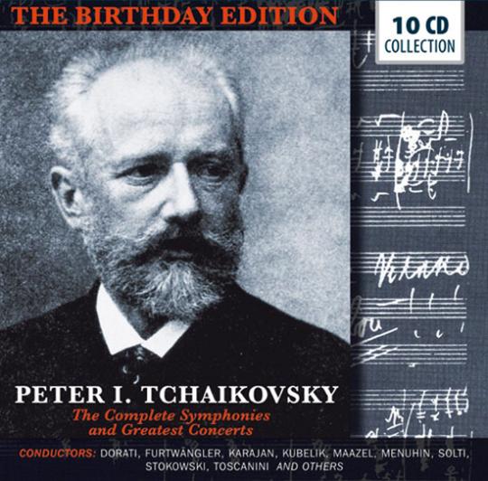 Peter I. Tchaikovsky. Alle Symphonien und die größten Konzerte. 10 CDs.
