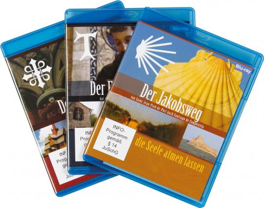 Pilgerwege. Jakobsweg, Franziskusweg, Olavsweg. 3 Blu-rays.