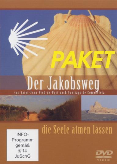 Pilgerwege. Jakobsweg, Franziskusweg, Olavsweg. 3 DVDs.