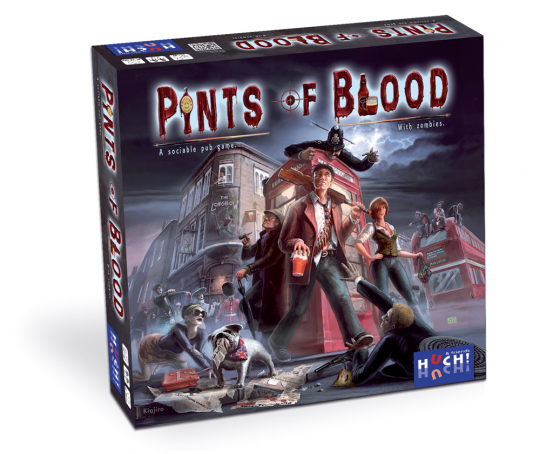 Pints of Blood. Ein geselliges Spiel mit Zombies.