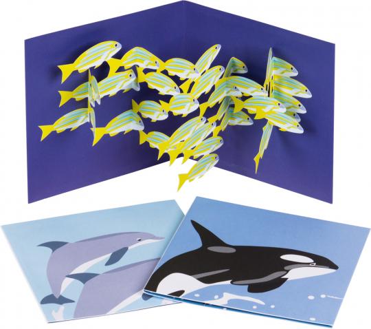 Pop-Up Grußkarten Set »Das Meer«.