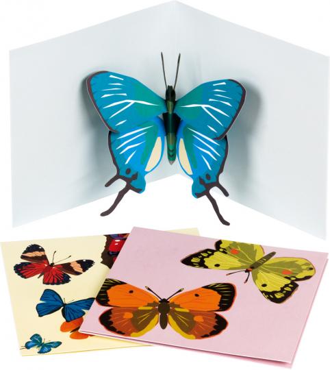 Pop-Up Grußkarten Set »Die Schmetterlinge«.