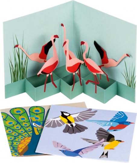 Pop-Up Grußkarten Set »Die Vögel«.