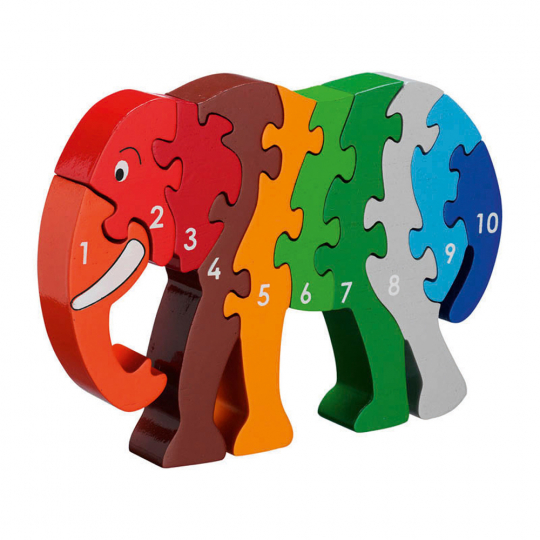 Puzzle »Elefant 1-10«.