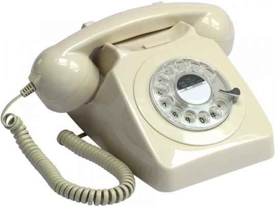 Retro-Telefon »Rotary«. Elfenbein.