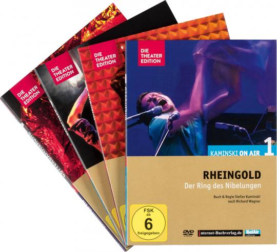 Richard Wagner. Kaminski on Air 1-4. Rheingold, Walküre, Siegfried, Götterdämmerung. 4 DVDs.