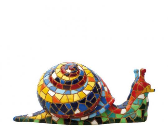 Schnecke aus Mosaik.