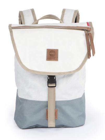 Segeltuchrucksack »Landgang Mini«, weiß/grau.