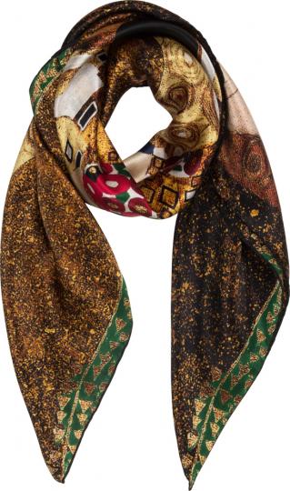 Seidentuch Gustav Klimt »Der Kuss II«.