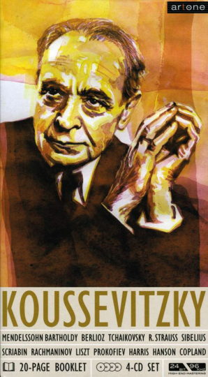 Sergey Koussevitzky. Set im Buchformat. 4 CDs.