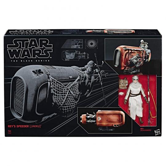 Star Wars. The Black Series. Rey und ihr Speeder (Jakku).
